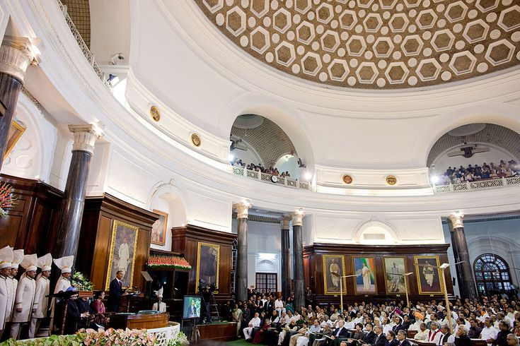 US President Barack Obama at Parliament of India in New Delhi addressing Joint session of both houses 2010 - India