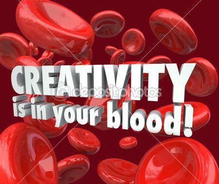 La creatividad es en las células rojas de la sangre — Imagen de stock #46022921