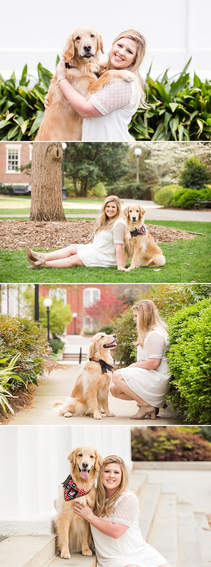 OMG. Graduation photos with your dog?! Yes please!! Loved this UGA senior session! | Athens Georgia Photographer
