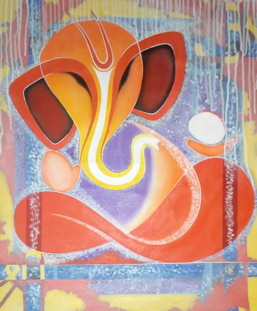ganesha paintings modern art - photo #17