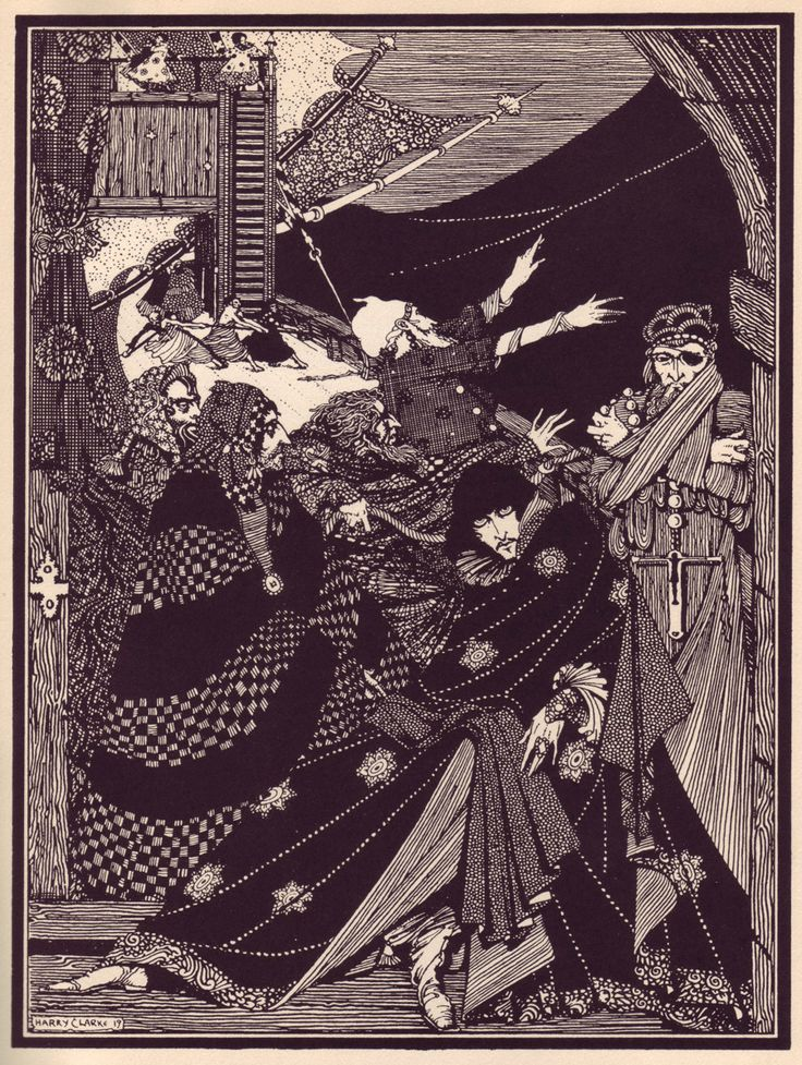 "Maria Popova: ""Harry Clarke's hauntingly beautiful and beautifully haunting 1919 illustrations for Edgar Allan Poe's Tales of Mystery and Imagination — a collection of 29 of Poe's tales of the magical and the macabre."""