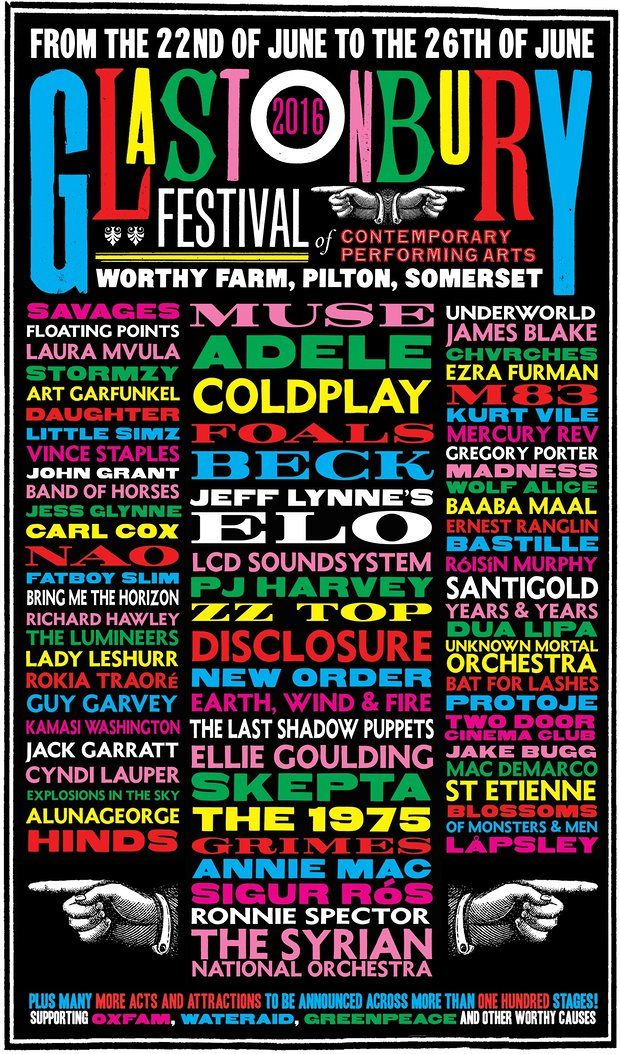 Wow! What a lineup! Glastonbury 2016