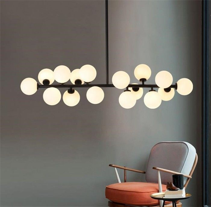Black molecular pendant light