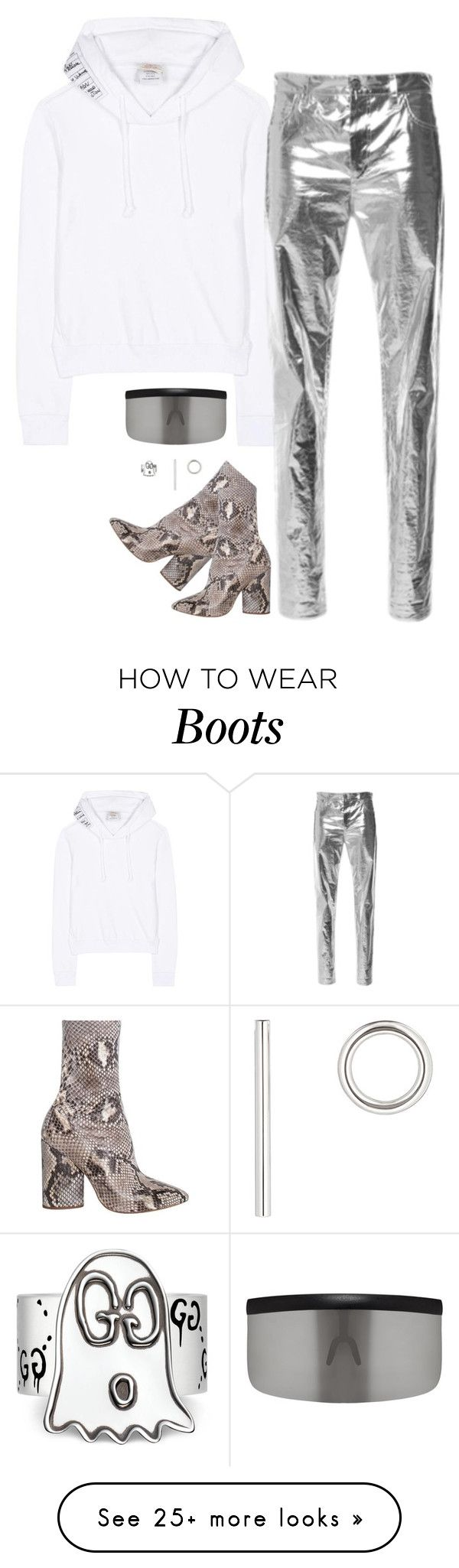 """""""Yeezy shoes and vêtement pull with isabel marant pant"""" by hugovrcl on Polyvore featuring Vetements, Isabel Marant, Mykita, Jennifer Fisher and Gucci"""