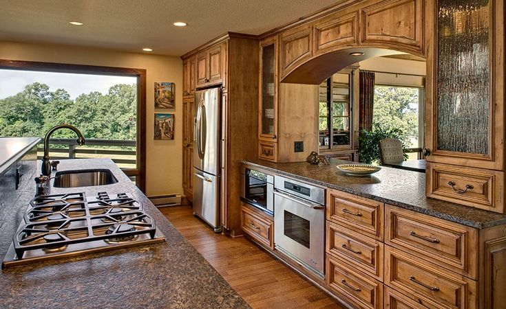 17 best images about rustic kitchens on pinterest window treatments montana and flats - Knotty pine cabinets makeover ...