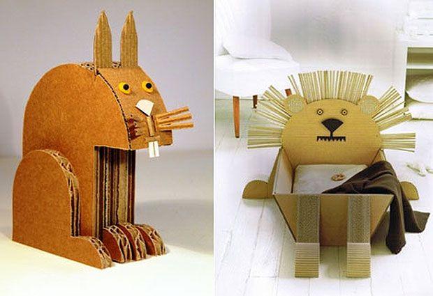 Animales de cartón corrugado: Artesanía con elementos simples | Manualidades y…