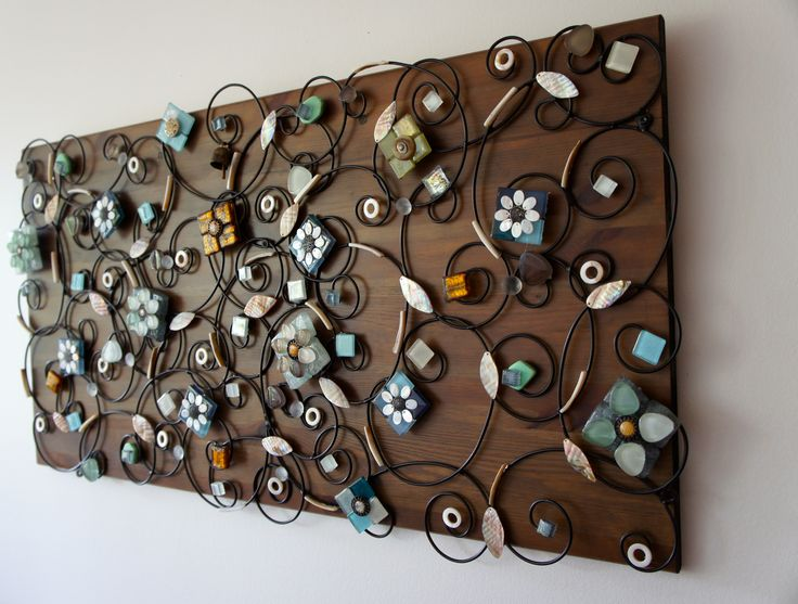 wall decoration, using recycled materials