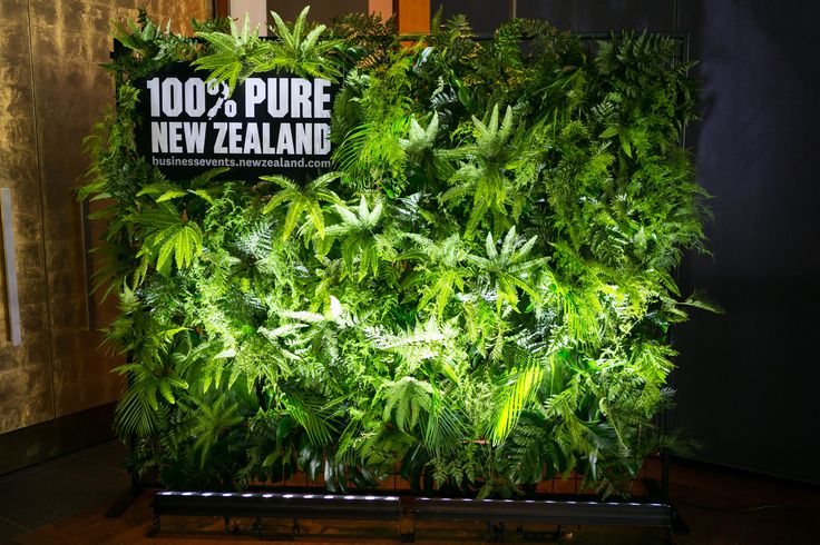 Green wall created by Unicorn Group for Tourism New Zealand