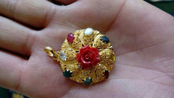 Navaratna gold pendents
