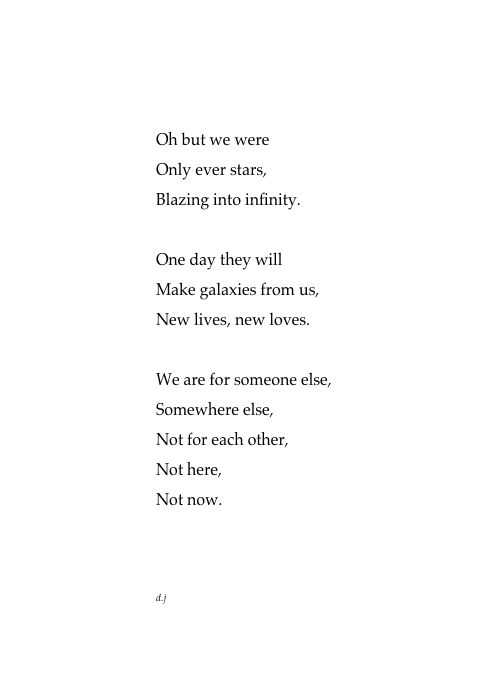 Only Ever Stars.  A new poem.  #poetry #quotes #love