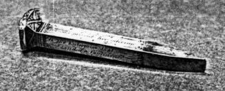 Railroad at Promontory Summit: There were actually five spikes used in the original ceremony: Golden spike # 1 from California, Golden spike # 2 from California, One solid silver spike from Nevada, One iron spike with silver placed on the shaft and gold plating on the head (with elaborate engraving) from Arizona (pictured to the right)  A regular iron spike which was the only spike driven into the tie