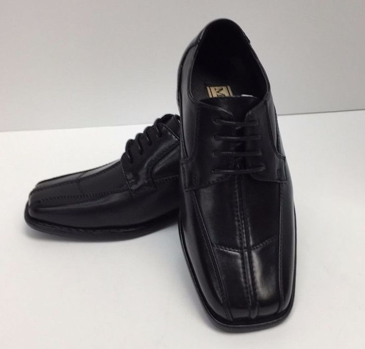 Boys Dress Shoes Miralto Youth Black With Laces Sizes 12.5  K108BLK-BB #Miralto #DressShoes