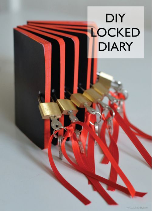 DIY Locked Diary | From our Secret Agent Spy Party but, shouldn't every kid have one?