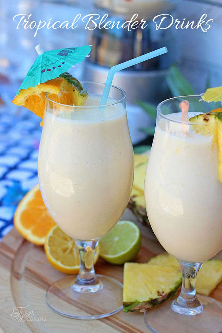 Tropical Blender Drinks- Smoothie Recipe - FYNES DESIGNS