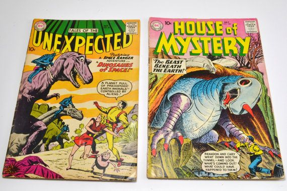 Vintage Sci Fi Comics, Tales Of The Unexpected No. 54, House Of Mystery No.100, Collectible Comics, 1960