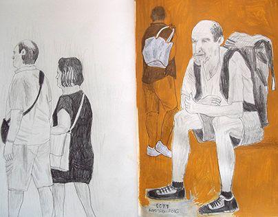 """Check out new work on my @Behance portfolio: """"Passeggiata (agosto 2016…"""