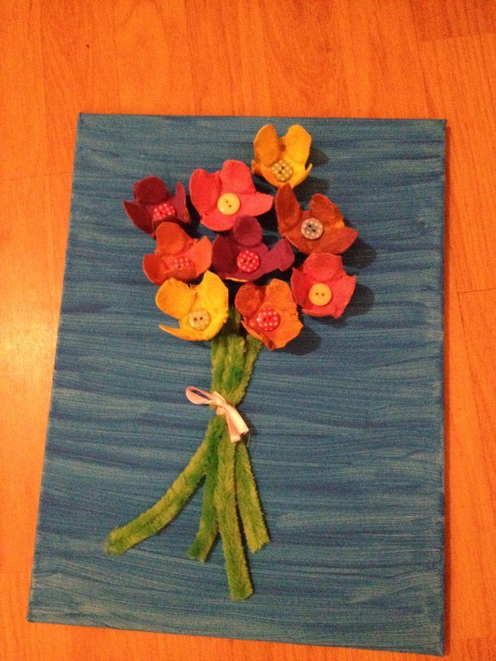 Bloemen cadeautje voor jarige moeder van gastkindje
