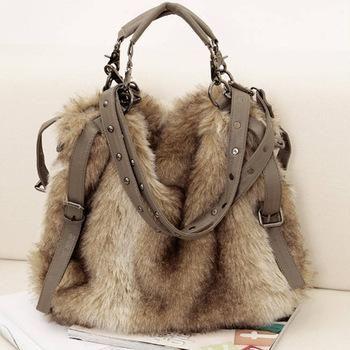 livraison gratuite - femmes's sac à main en fausse fourrure sacs de velours épaule de la croix-body sacs
