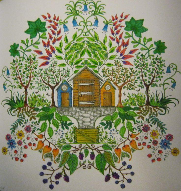 Secret Garden Casinha Jardim Secreto Johanna Basford BasfordColoring BooksVintage