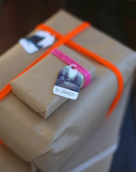 instagram gift tags with wool wrap