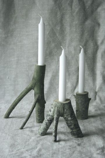 Twigged out candles