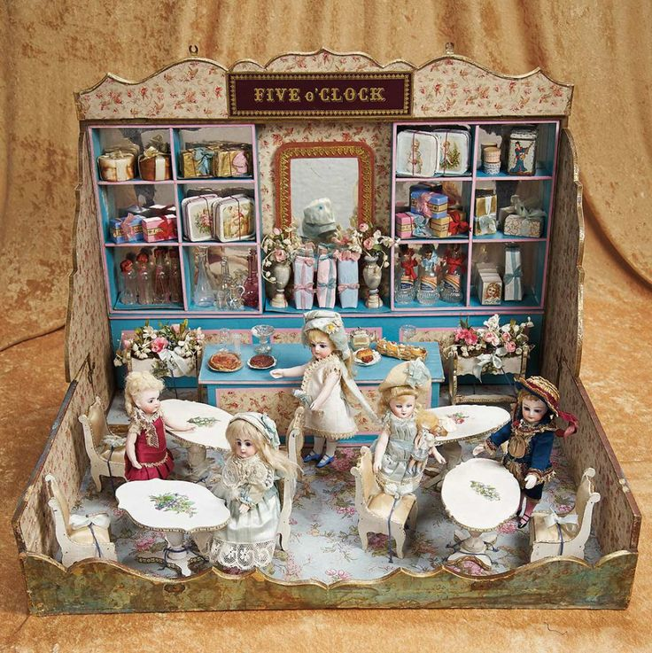 Dollhouse Miniatures Chicago: 227 Best Images About Old Dollhouse & Miniatures On