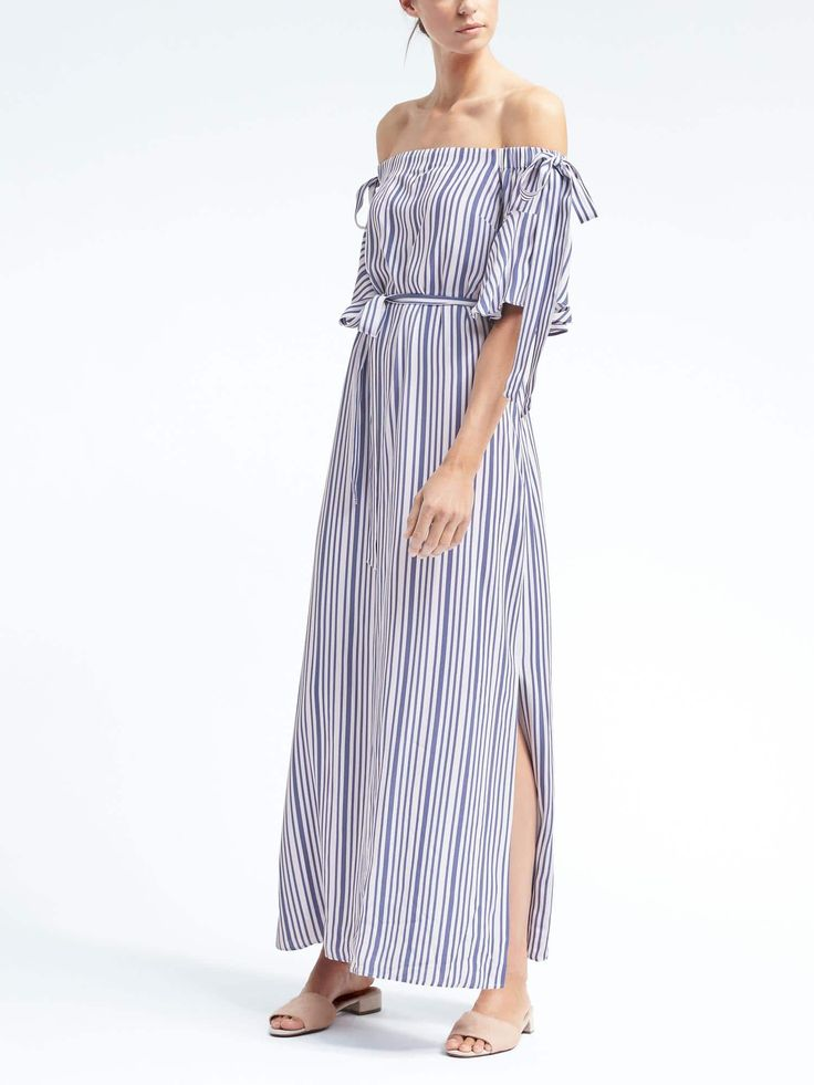 Off the shoulder maxi dress from Banana Republic (this is an affiliate link)