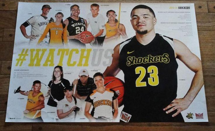 WICHITA STATE WSU SHOCKERS FRED VAN VLEET 35-1 2013-2014 NCAA BASKETBALL POSTER  #WichitaStateShockers