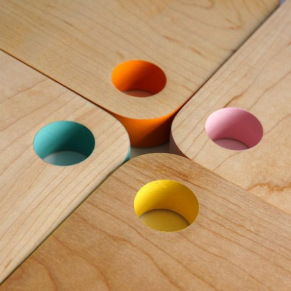 Mini Colour Block Cutting Board Turquoise by craftcollective