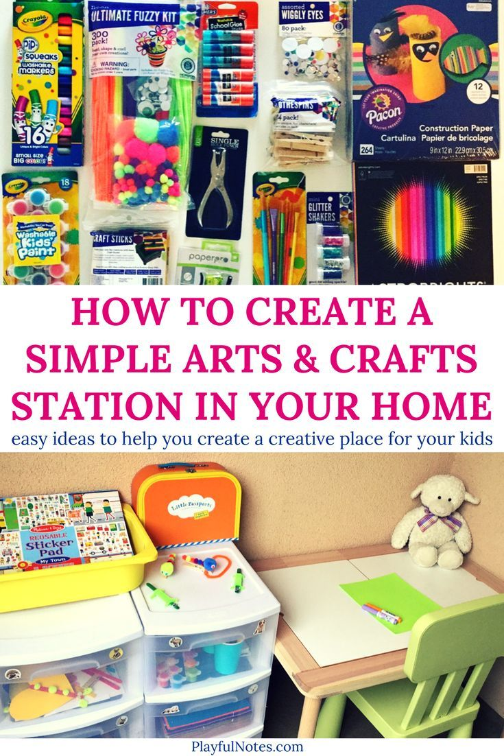 Art station for kids: Easy tips and ideas that will help you create a DIY arts & crafts station for kids   Art station for toddlers   Art station at home