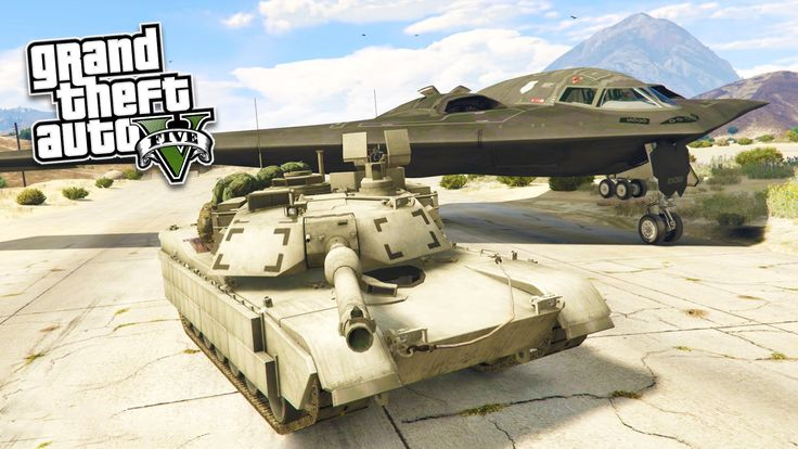 GTA 5 PC Mods - REAL LIFE ARMY MOD! GTA 5 Stealth Bomber & M1 Abrams Tan...