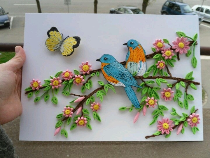 beautiful work blue birds