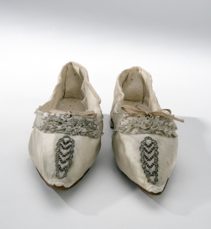 Wedding Shoes: 1797, Swedish. Worn at the wedding of Fredrika Dorotea Vilhelminas on October 31, 1797.