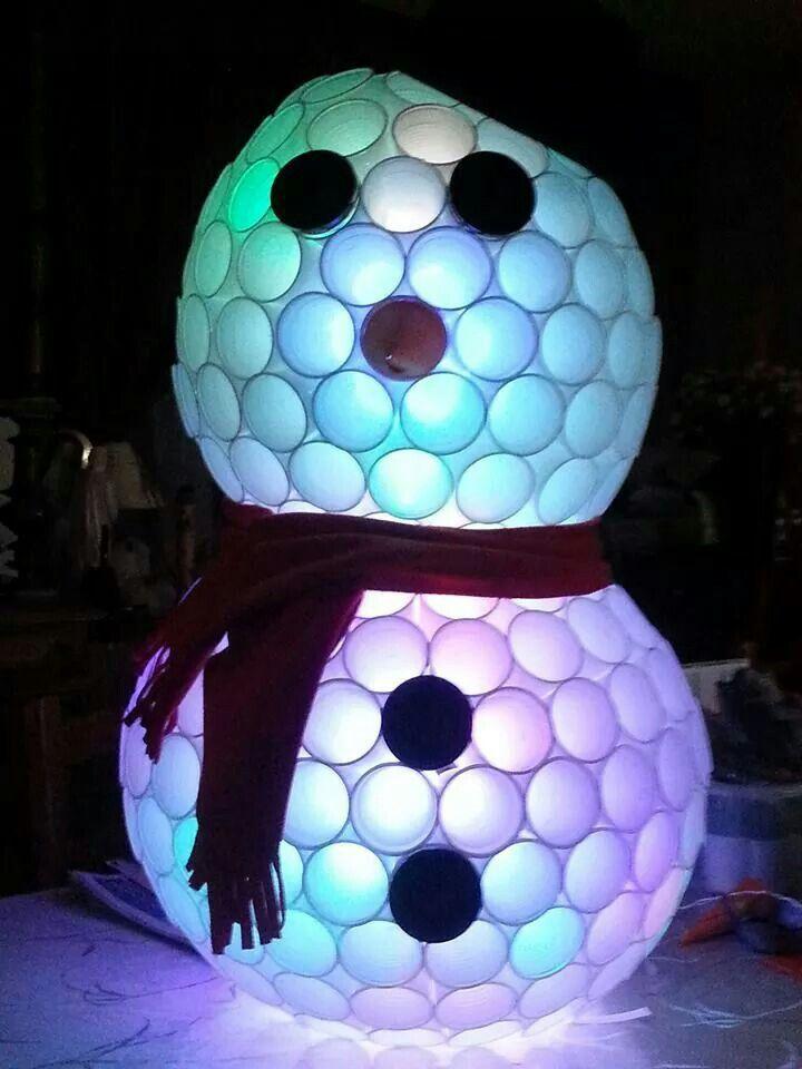 Bonhomme de neige en gobelet... ...