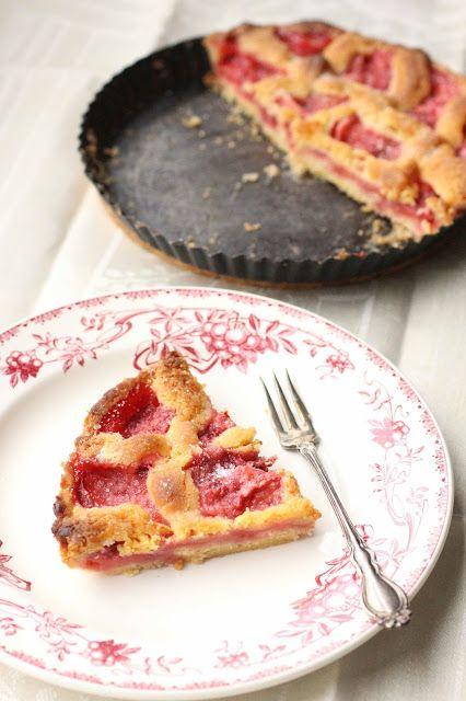 tarte finlandaise aux fraises cuites - Mansikka Torttu - cooked strawberry pie