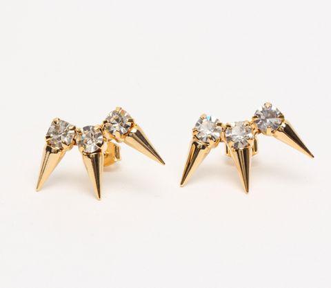 Gold Thorn Earrings ($14)