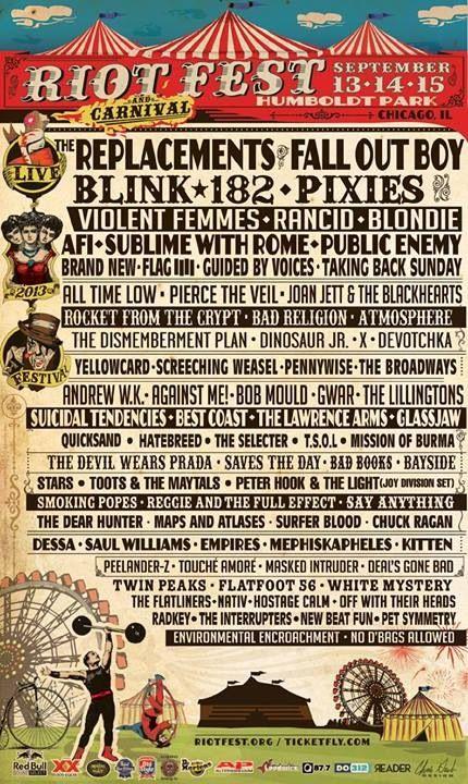 RiotFest Chicago ... Can't wait !!
