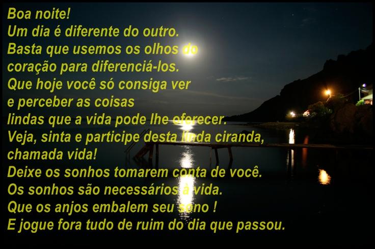 Boa noite!: Thought
