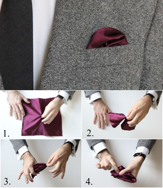 How To Fold a Pocket Square: The Puff Fold
