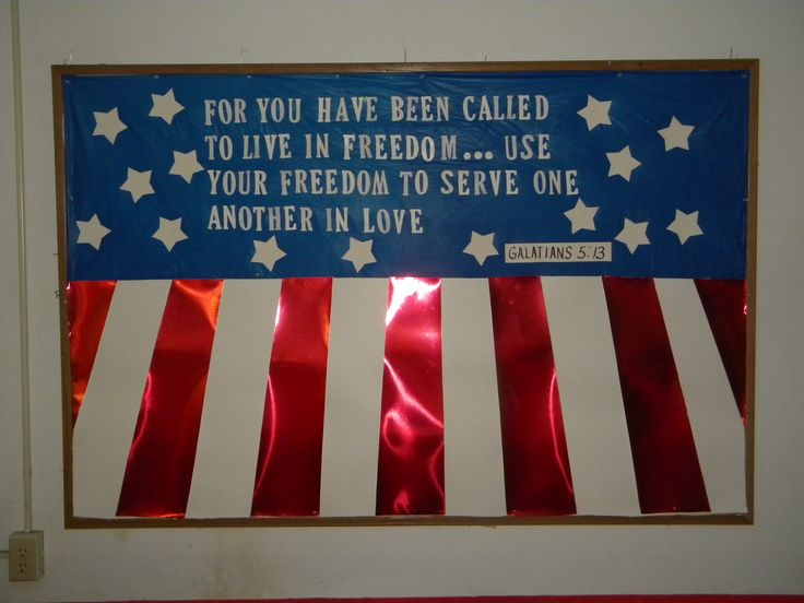 4th of July Bulletin Board for FCC