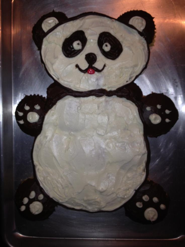 Pull Apart Cupcake Cake Panda Cake Made With Cupcakes
