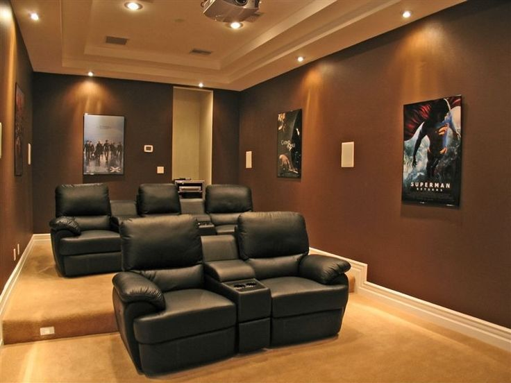 modern home theater with carpet standard height theatre seating box ceiling ceiling mounted projector can lights home theater projector pinterest - Home Theater Furniture Houston