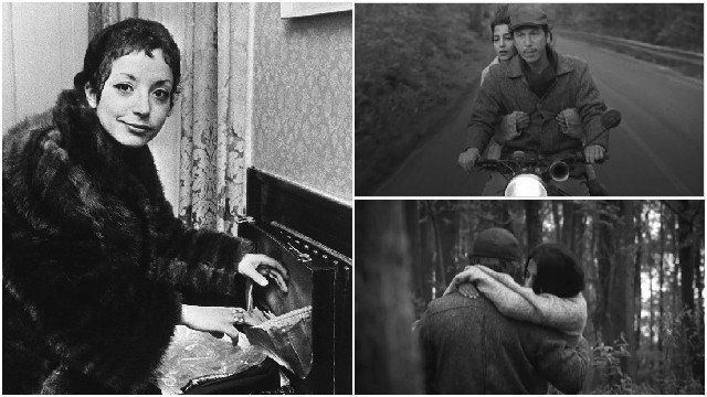 A gauche, portrait d'Albertine Sarrazin pris en 1967 à Copenhague. A droite, deux extraits du film. © AFP PHOTO