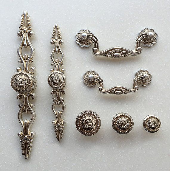 french shabby chic dresser drawer pulls handles antique silver kitchen cabinet pull handle. Black Bedroom Furniture Sets. Home Design Ideas