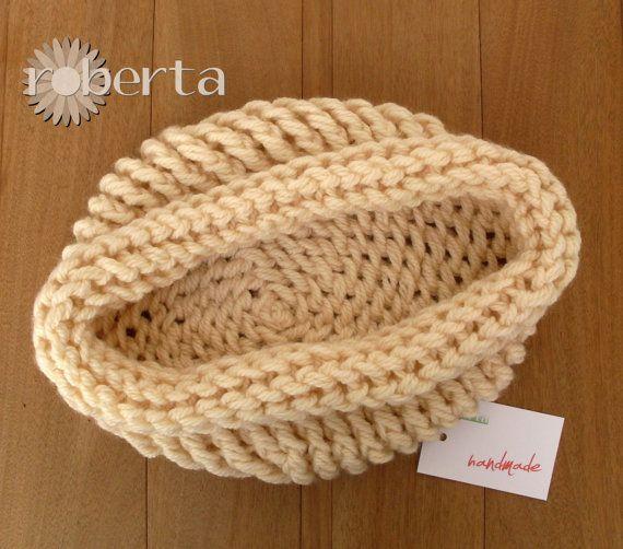 Handmade Newborn Photo Props Cocoon Baby Wool di RobertaKnits