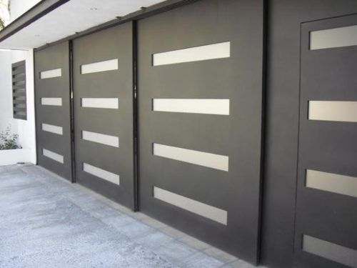 10 best images about portones on pinterest front door for Portones de hierro para garage