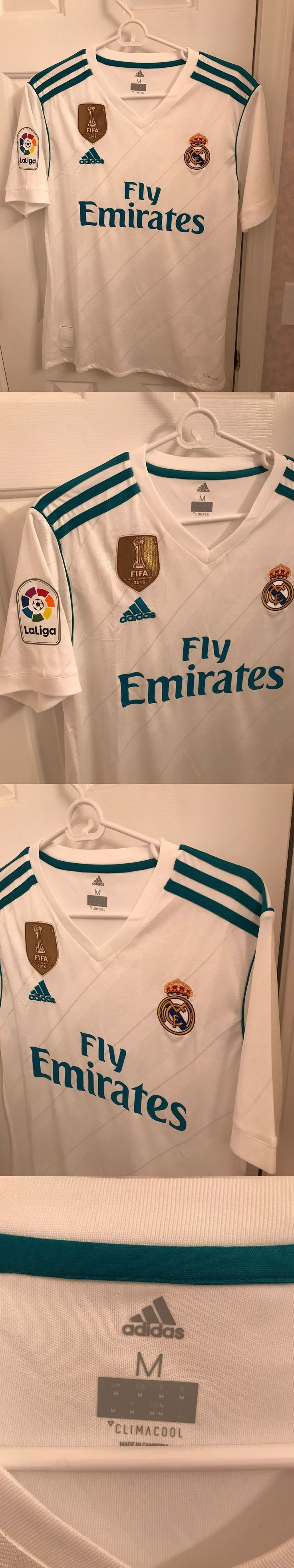 Soccer-International Clubs 2887: Adidas Mens Real Madrid 17 18 Home Soccer Jersey Shirt. New Size Medium -> BUY IT NOW ONLY: $49.99 on eBay!