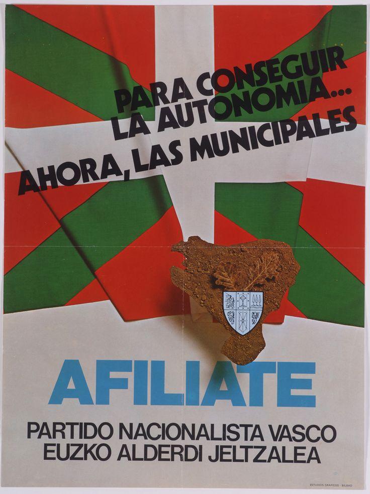PNV, [1977] (Bilbao: Estudios Gráficos) 1 lám. (cartel): col.; 57x43 cm.