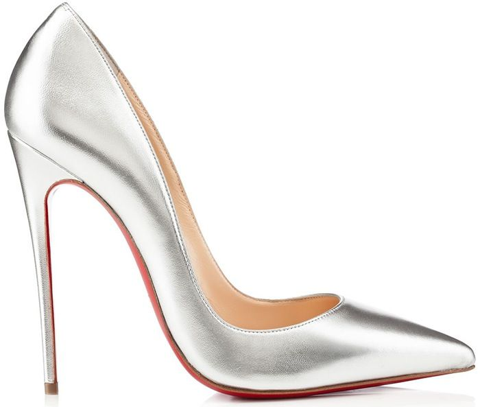 100% authentic 3a9b6 0bb2a Artesur » christian louboutin metallic pointed-toe pumps