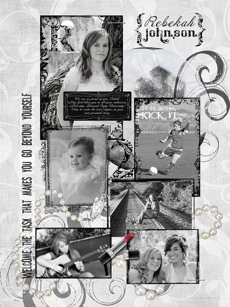 black and white layouts for yearbook | senior yearbook page | 2010 Senior Photographers